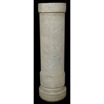 Importante Columna Pedestal De Marmol Blanco (2972)