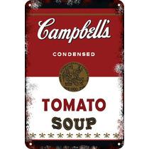 Carteles Antiguos Chapa 60x40cm Campbells Andy Warhol Al-021