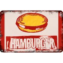 Carteles Antiguos Chapa 60x40cm Hamburger Andy Warhol Al-016