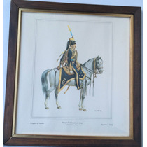 Antigua Lámina Grabado General De La Caballeria Sueca 1834