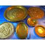 El Arcon Lote De 7 Platos De Cobre Y Bronce Vs Tamaños 3067