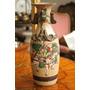 Antiguo De Jarron Porcelana Japonesa Pintado A Mano