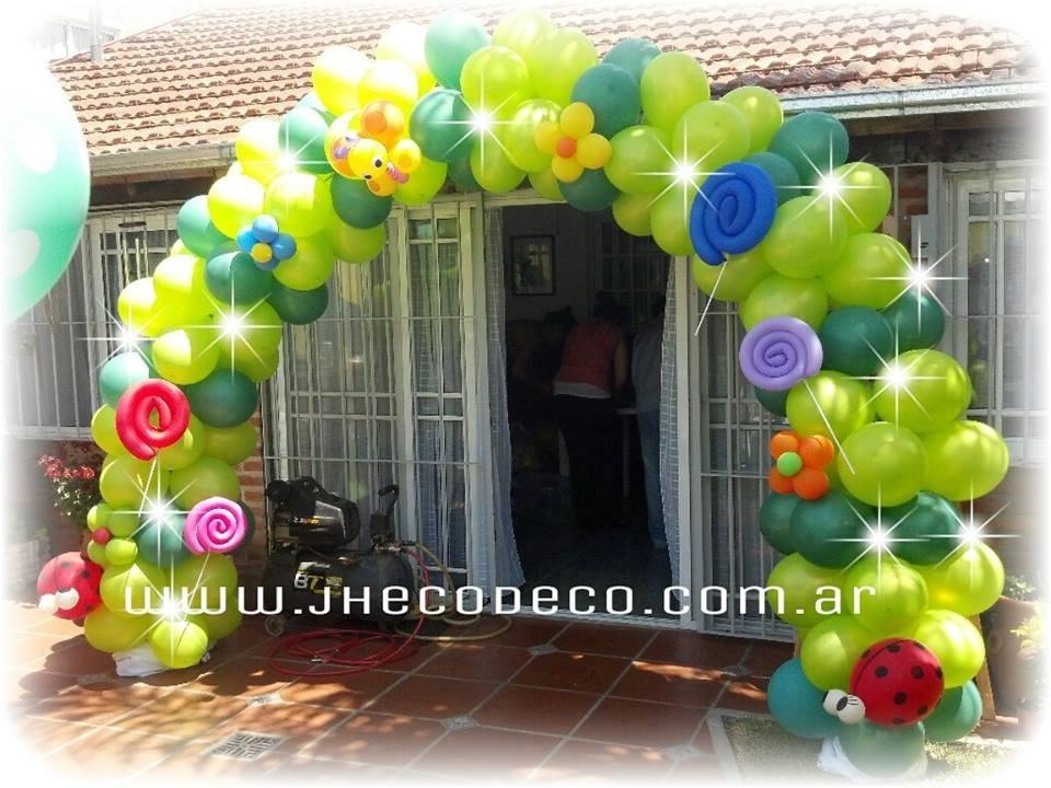 Decoraci n con globos golosinas personalizadas y candy - Adornos con golosinas ...
