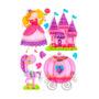 Sticker Infantil 3d Princesas Morph