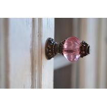 Tirador Perilla P/mueble Puerta Cajón Mini Esfera Rosa