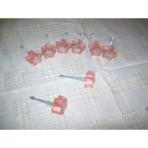 4 Tiradores Manijas P/cajon-resina-formato Flor-nuevos