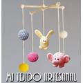 Colgantes Móviles Tejidos Al Crochet Para Tu Bebé O Casa