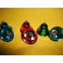 Campanitas Navideñas De Metal Agradable Sonido Colores X 12