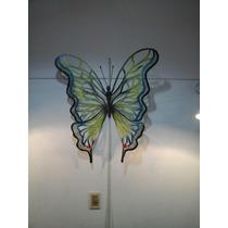 Mariposa Para Aplique Pared En Hierro Forjado Pintado