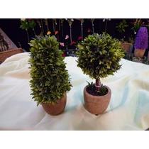 Maceta Con Topiary 23 Cm ( Flores Artificiales)