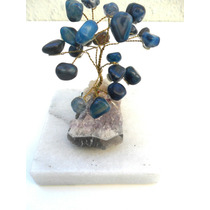 Arbol De Lavida En Piedra Preciosas Bronce Base De Amatias
