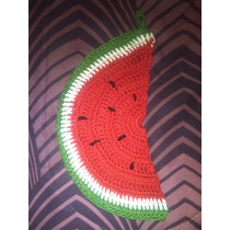 Agarradera Con Forma De Sandia Al Crochet