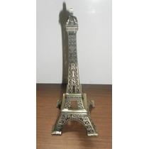 Hermoso Adorno De Metal Torre Eiffel 13 Cm. De Alto