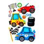 Sticker Infantil 3d Autos Morph