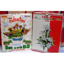 11 Pares Moldes Para Flores C/ Goma Eva Fulanitos Y Azucenas