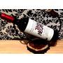 Decoración En Hierro Con Base De Madera + Vino Tinto Negro