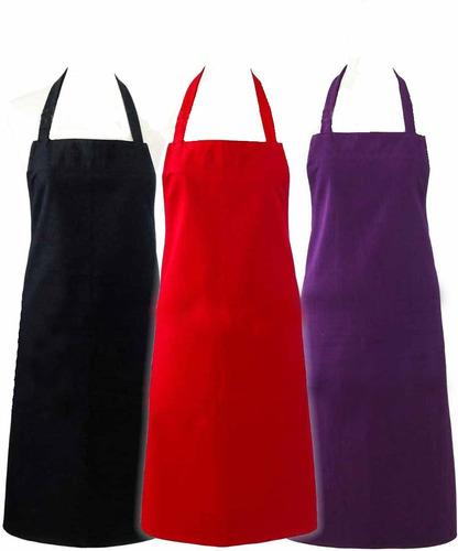 Delantal de cocina con pechera tela antimanchas for Delantales de cocina