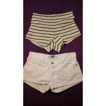 2x1 Pantalon Corto Mujer Short Marca 47 Street / Club M T 24