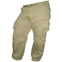 Pantalon Desmontable Explorer Tipo Cargo -gabardina 8 Onzas
