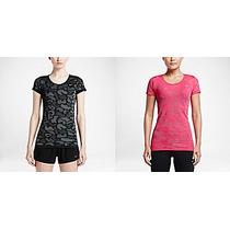Remera Nike Dri-fit Knit Contrast Running Mujer Original Usa