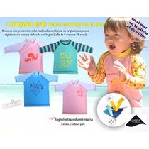 Remera Protección Solar Uv Agua Pileta Playa Bebés Y Niños
