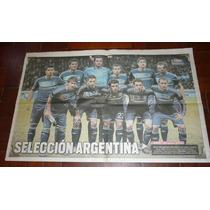 Poster Diario Libre Seleccion Argentina 3-1 Suiza 2012 Messi