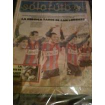 Revista Solo Futbol 8 De Septiembre De 1986 San Lorenzo