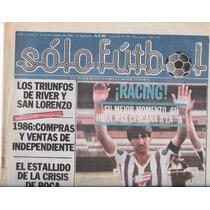 Revista Solo Futbol 16 De Diciembre De 1986 Gustavo Costas