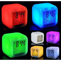 Reloj Desperador Temperatura Digital Luz Led Cambia Color