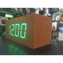 Reloj Despertador Temperatura Bambu Led Touch Recoleta