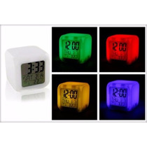 Reloj Despertador Digital Cubo Led Multicolor