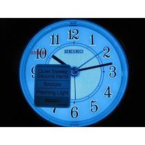 Despertador Seiko Qhe 87 / 115 Table Clock Led Sweep Snooze
