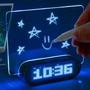 Reloj Despertador Digital Pizarra Magica Led Temperatura