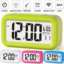 Reloj Despertador Led Luz Snooze Varios Colores Smart Clock