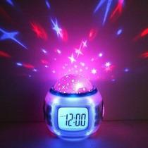 Reloj Despertador Alarma Estrellas A/pil. Musica Microcentro