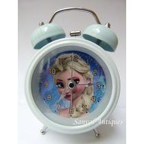Reloj Despertador De Metal Hello Kitty Con Campanilla Y Luz