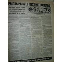 Diario Gaceta Marinera Armada 444 Gobierno Junta Militar