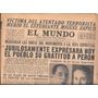 Diario El Mundo - 1 Mayo 1955 Peron Evita Miguel Zapico
