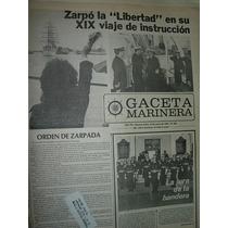 Diario Gaceta Marinera Armada 508 Zarpo Fragata Libertad