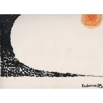 Nº 149 - Composición Con Sol - Acrílico De Federico.