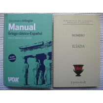 Diccionario Manual Bilingüe Griego Clásico Vox + Ilíada