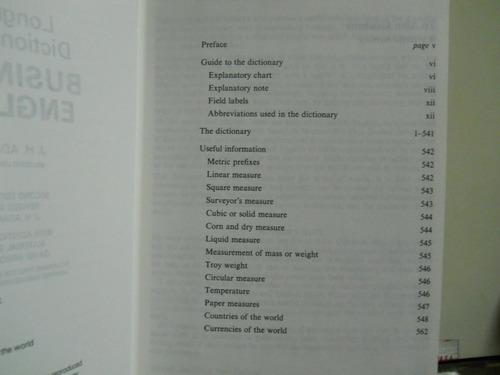 Dictionary Of Business English-j.h. Adam-new Edition-longman