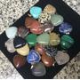 Dije Piedras Natural Corazon + Cadena! Importados $ C/u