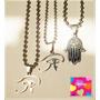 Conjunto Ojo Horus Cruz Egipcia Mano Fatim Amuleto Mal D Ojo