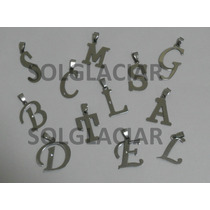 Dijes Acero Quirurgico Letras Iniciales Bandas De Musica