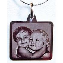 Foto Medallas Acero Quirurgico Personalizadas Tamaño Grande