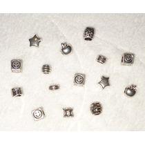 Lote X 10 Dijes De Metal P/pulsera Rolo Con Donas Importados