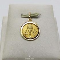 Dije Medalla Oro Amarillo 18k Primera Comunión 1,2grs Brumat