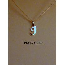 Únicas Letras Góticas En Plata Y Oro Con Cadena Incluida !!!