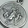 Medalla De Plata 925 Virgen Desatanudos